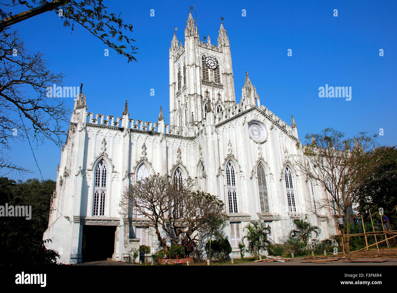 St Paul cathedral ; Calcutta ; West Bengal ; India - Stock Image