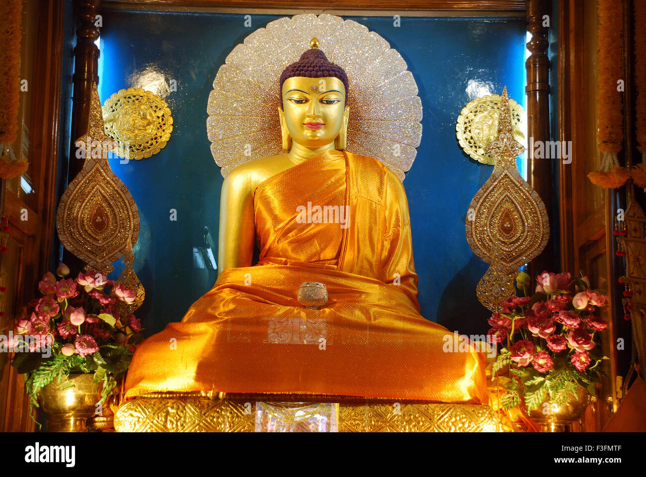 lord buddha golden statue in stock photos lord buddha golden