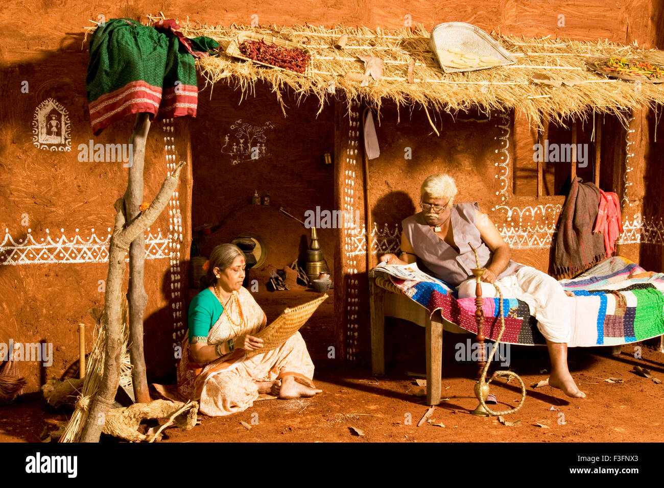 Old village couple india no mr