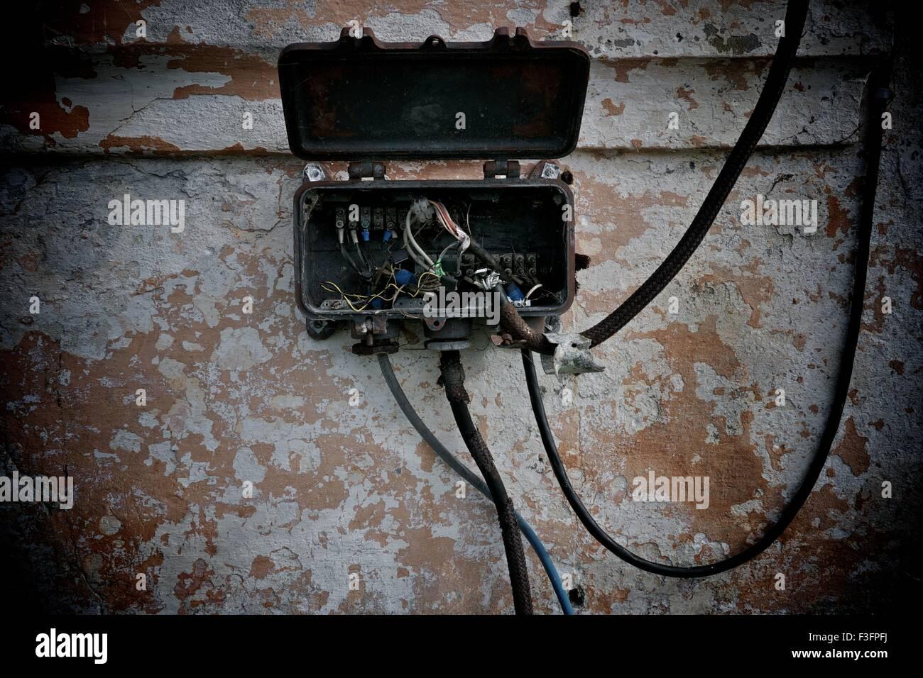Old electrical metal box Stock Photo: 88242774 - Alamy