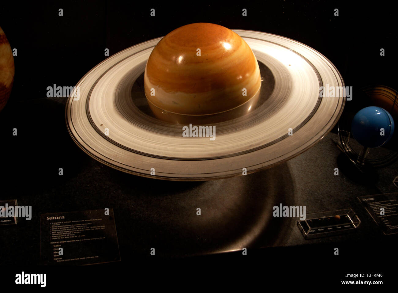 Our Solar System model of Saturn in museum Stock Photo