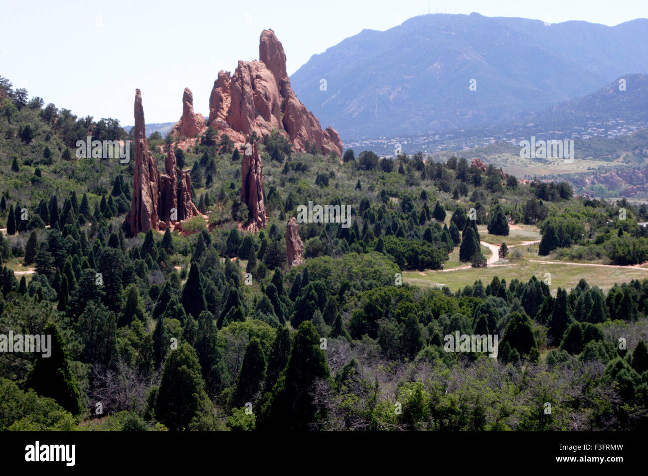 Scenic view of Garden of Gods at Colorado ; U.S.A. United States of America - Stock Image