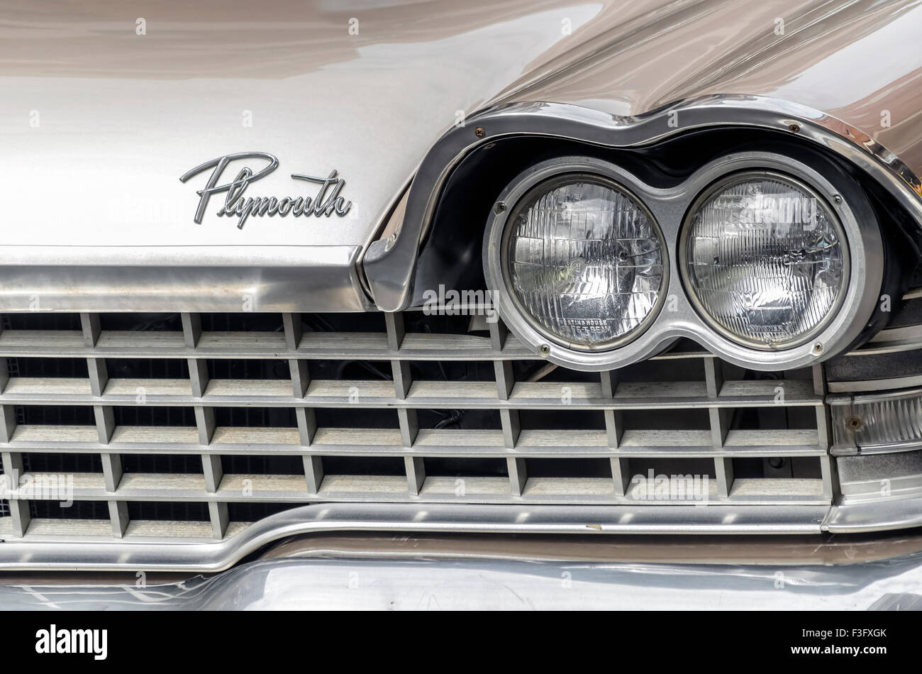 Old Plymouth Headlight : Plymouth fury stock photos images