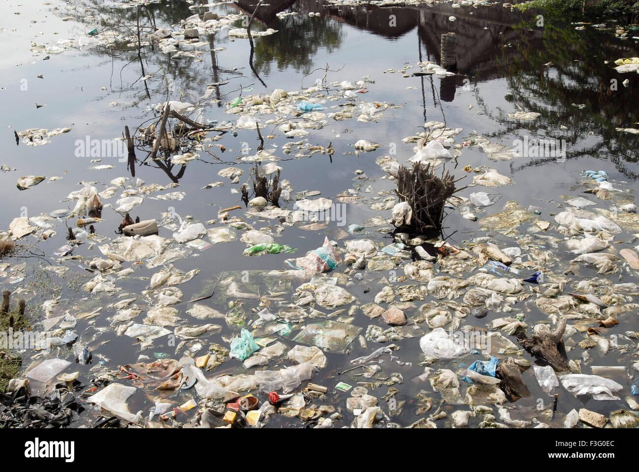 Pollution ; Tirupur ; Tamil Nadu ; India - Stock Image
