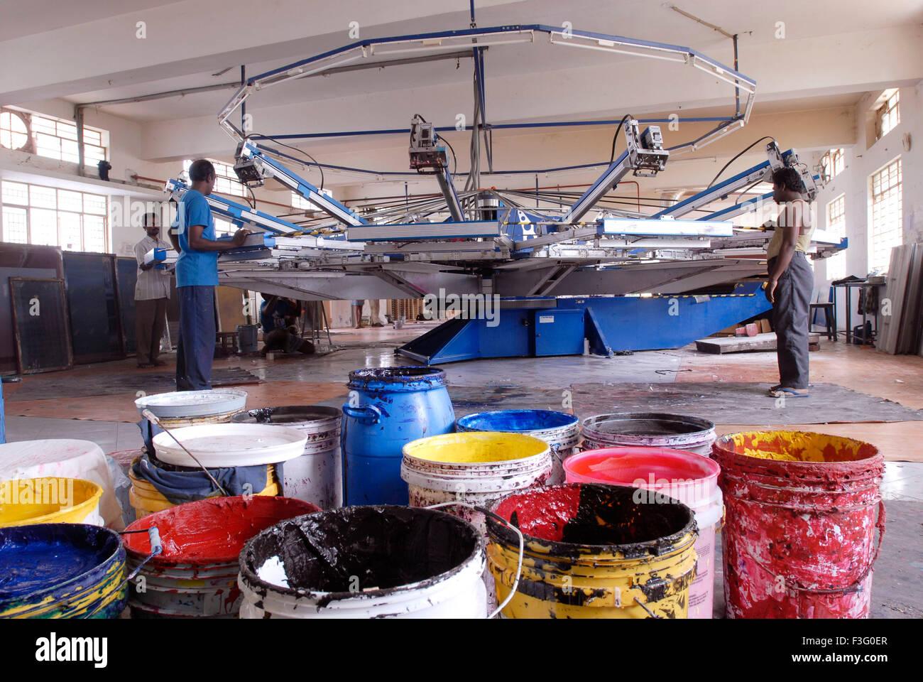 Fabric Printing Factory Stock Photos & Fabric Printing Factory Stock