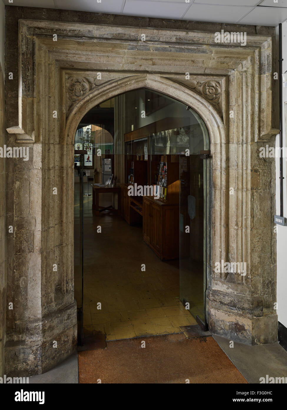 All Hallows by the Tower north porch - Stock Image
