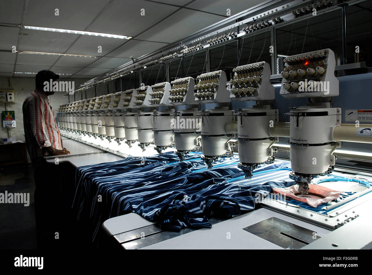 Computerized automatic embroidering in garment industry