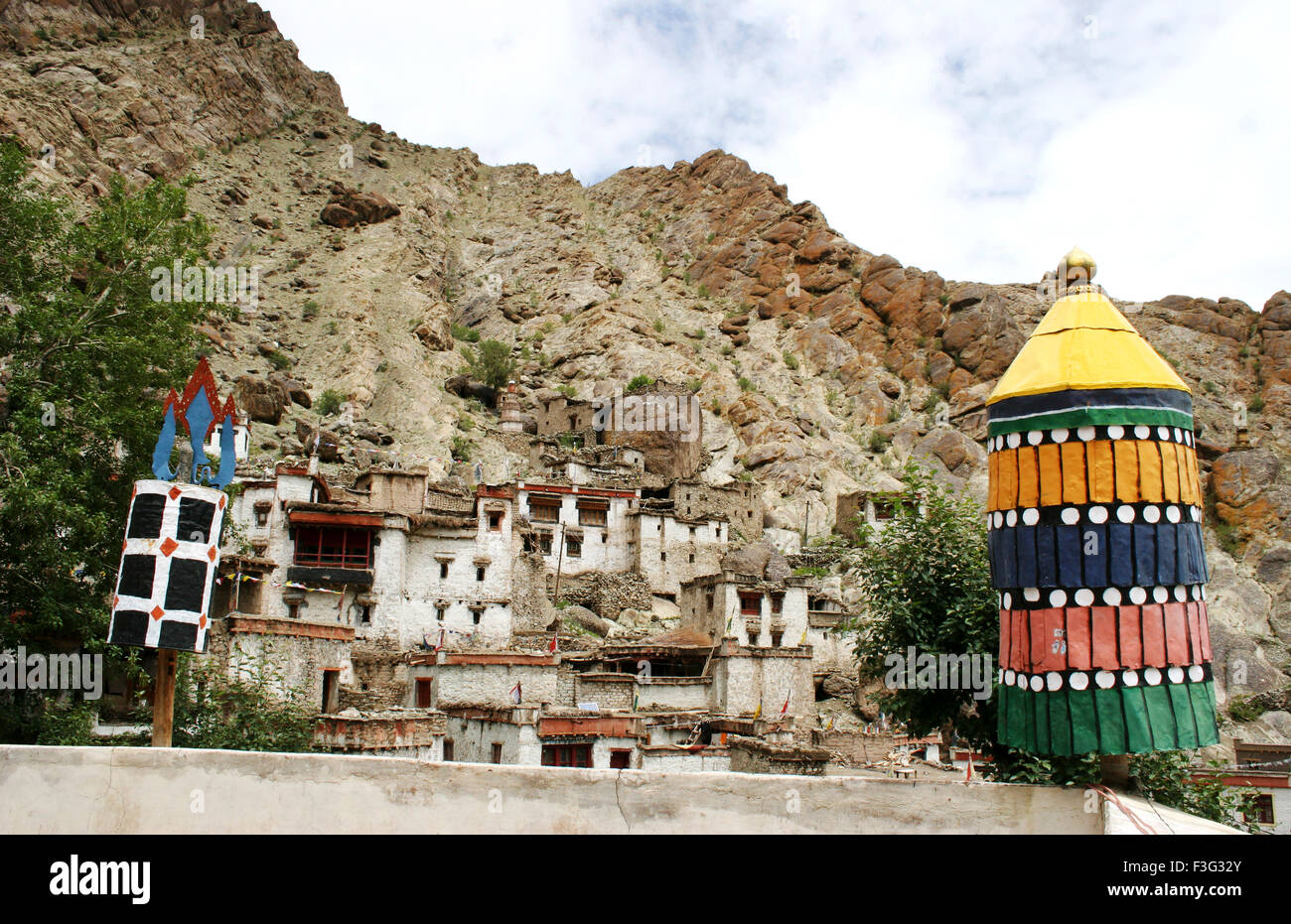 Hemis monastery one of largest and most important of all monastic establishments of Ladakh ; Leh ; Ladakh - Stock Image