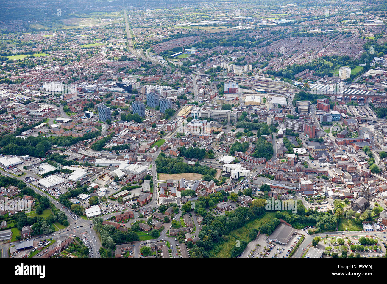 Stockport Town Centre, North West England, UK - Stock Image