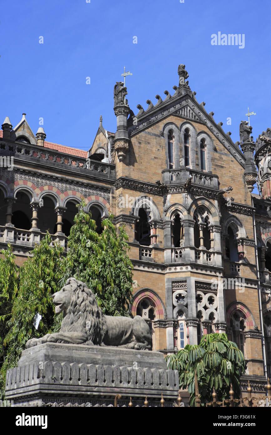 Chhatrapati Shivaji Terminus Victorian Gothic Revival Architecture Blended Railway Station Bombay Mumbai Maharashtra