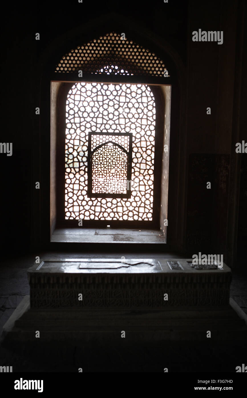 Family member's chamber in Humayun's tomb built in 1570 ; Delhi ; India UNESCO World Heritage Site - Stock Image