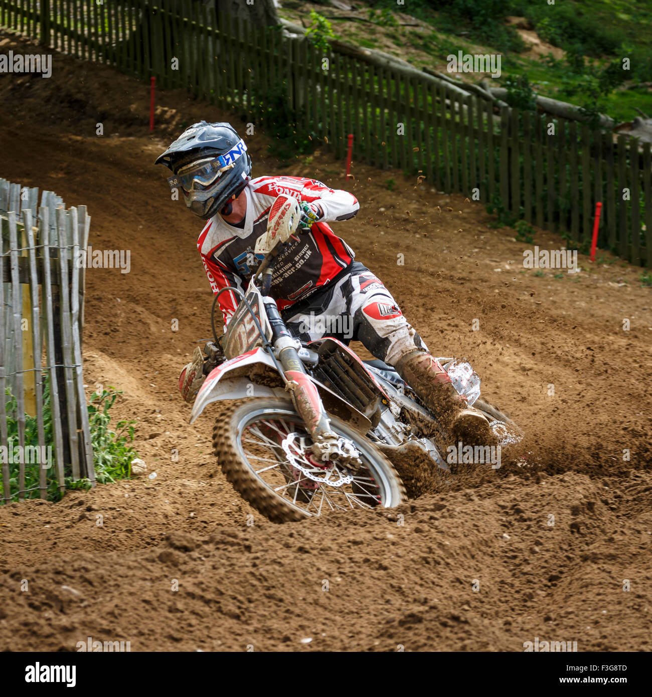 Simon Daniels On His Honda 250 At The 2015 Eastern Centre Acu Solo Dirt Bikes 250cc Motocross Championship Cadders Hill Lyng Norfolk Uk