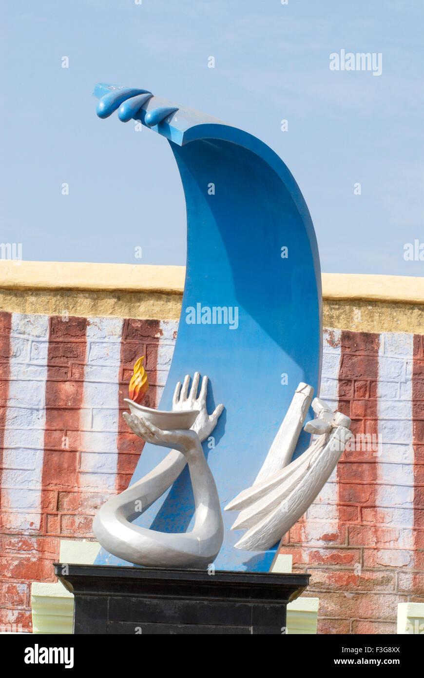 Memorial for those who lost their lives in Tsunami on 26/12/2004 ; Kanyakumari ; Tamil Nadu ; India - Stock Image