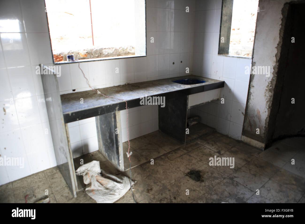 Kitchen Platform ; House Under Construction ; Talegaon; Pune; Maharashtra;  India; Property Release Yes