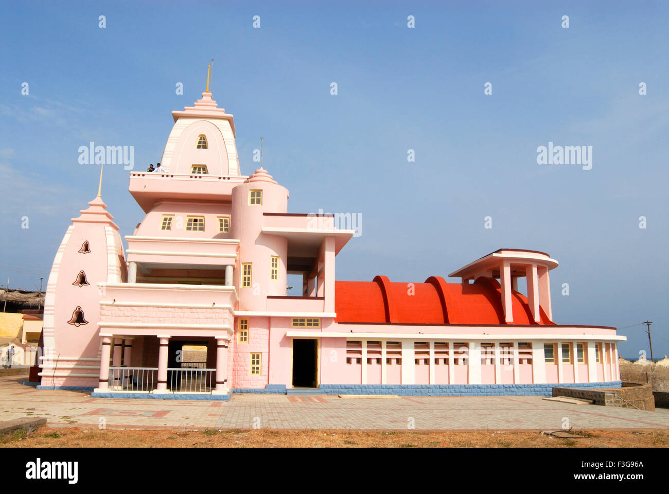 Gandhi Memorial established in 1956 (height 79 feet) ; Kanyakumari ; Tamil Nadu ; India Stock Photo