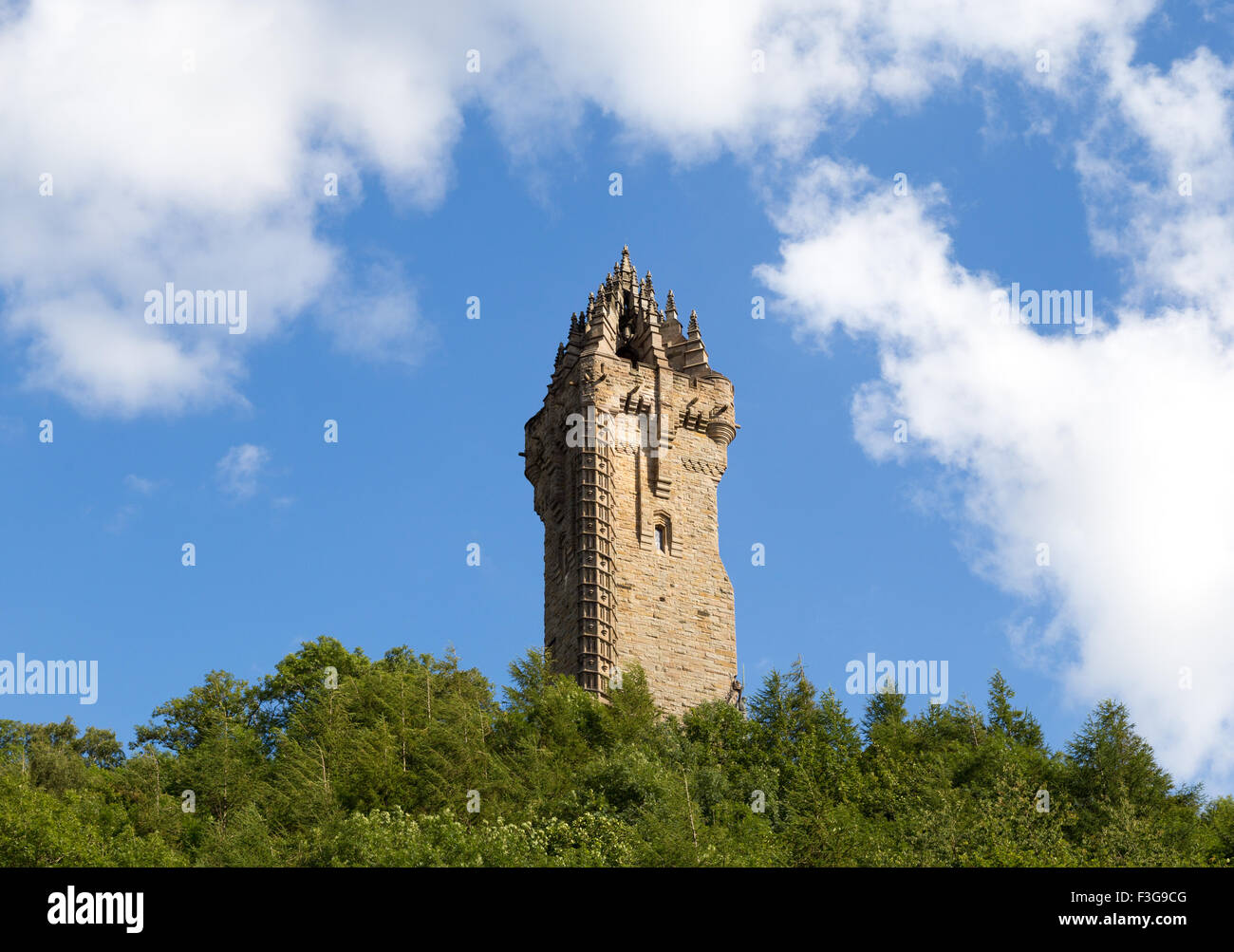 The National Wallace Monument on Abbey Craig, Stirling in Scotland Stock Photo