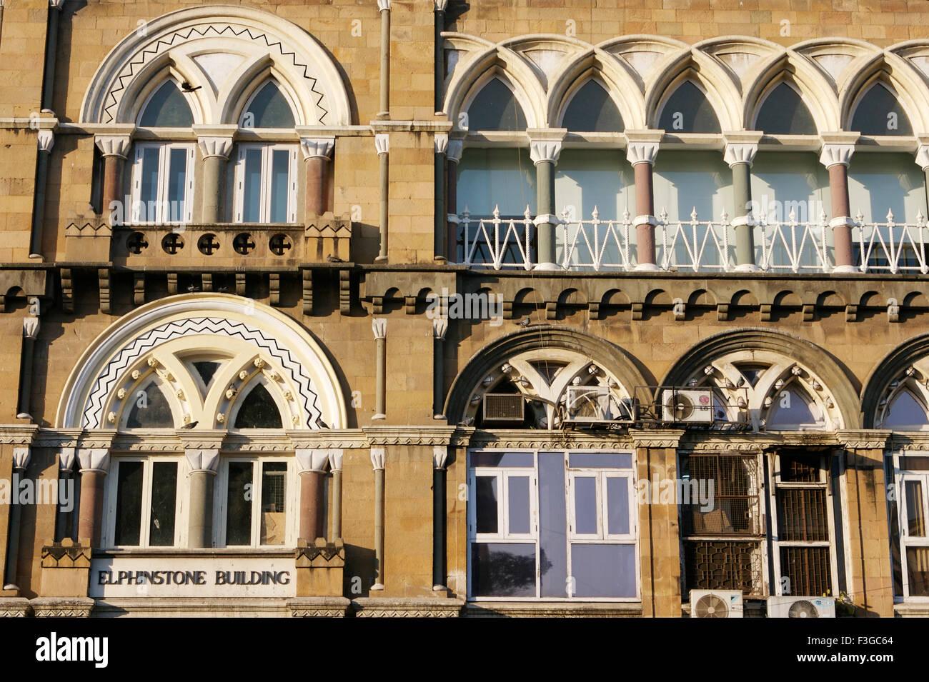 Windows Of Gothic Architecture Elphinstone Building At Bombay Now Mumbai Maharashtra India
