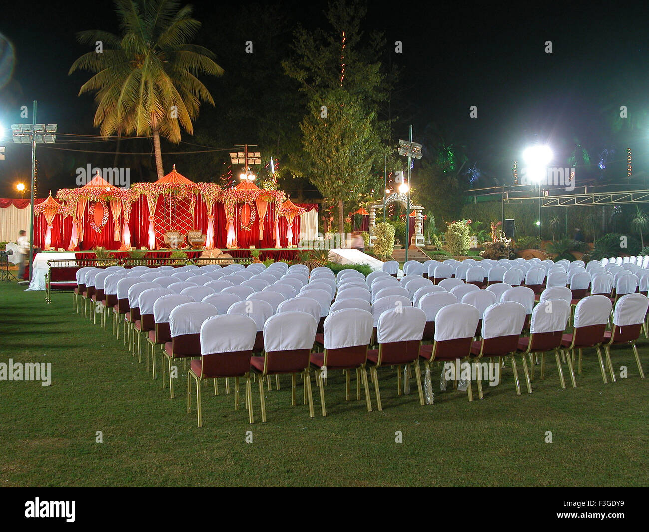 View of a wedding decoration india stock photo 88257997 alamy view of a wedding decoration india junglespirit Choice Image