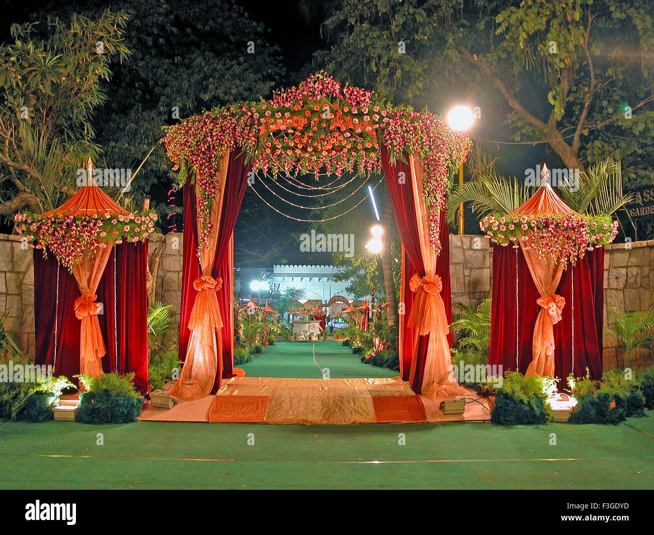 View of a wedding decoration india stock photo 88258001 alamy view of a wedding decoration india junglespirit Image collections