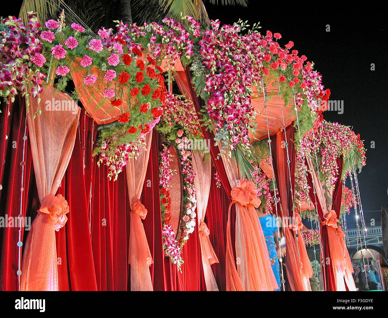 View of a wedding decoration india stock photo 88258002 alamy view of a wedding decoration india junglespirit Choice Image