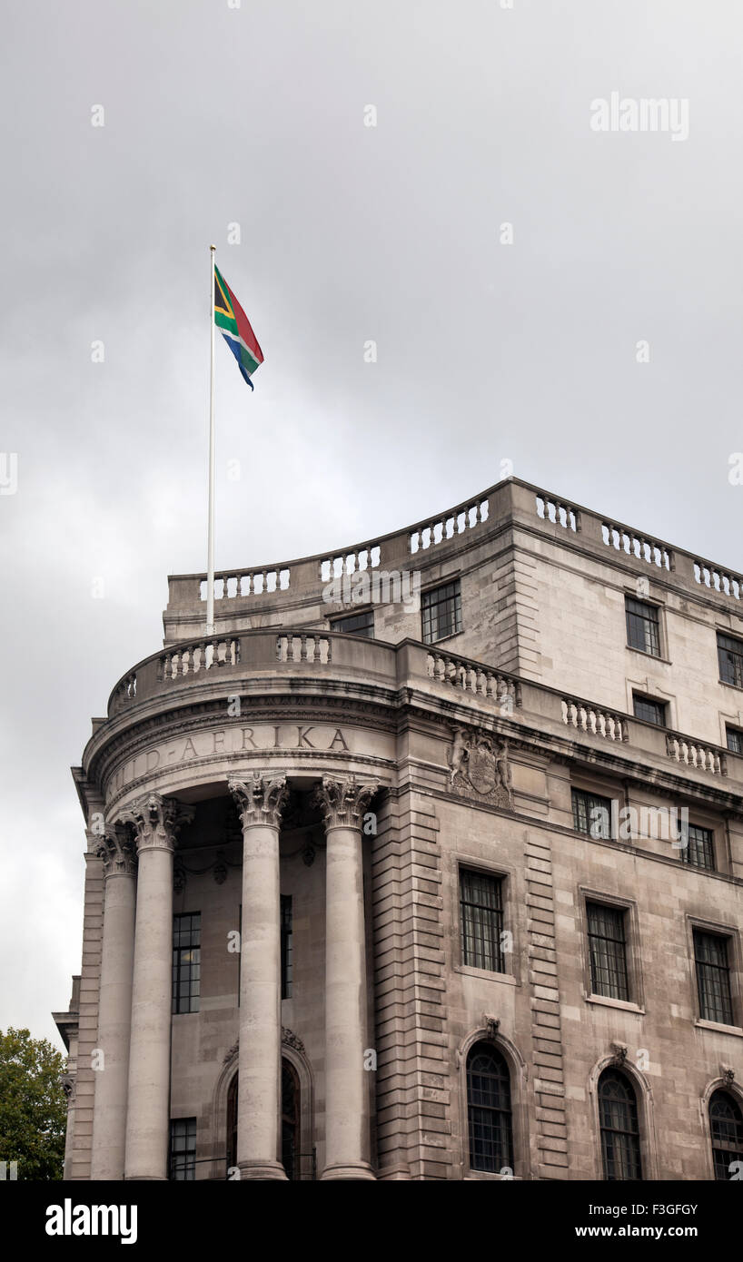 South Africa High Commission on Trafalgar Square in London UK - Stock Image