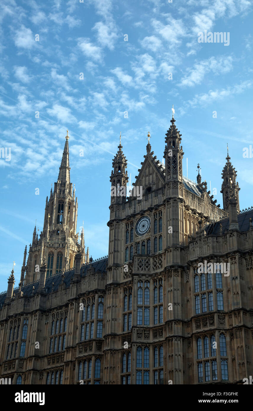 Palace of Westminster in London UK - Stock Image