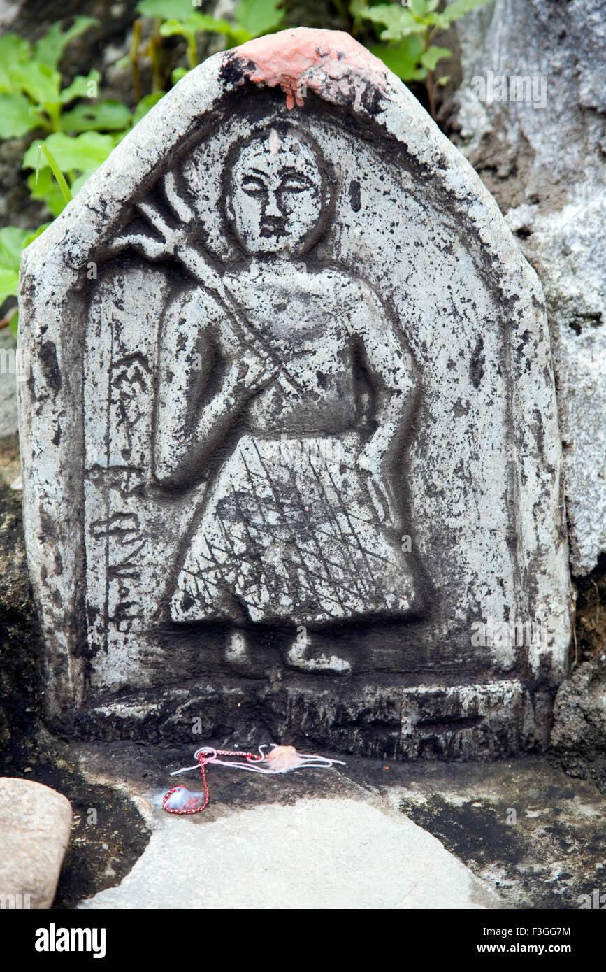 Gods of the Bheel tribe ; Bheel basti ; Village Delwara ; Udaipur ; Rajasthan ; India - Stock Image