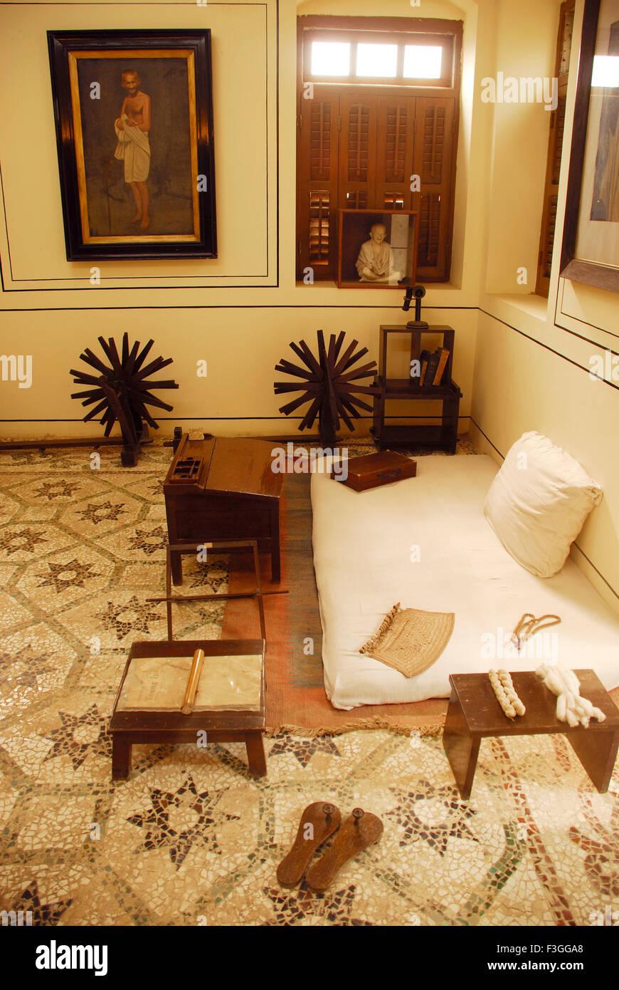 Mahatma gandhi charkha spinning wheel stock photos - The living room mumbai maharashtra ...