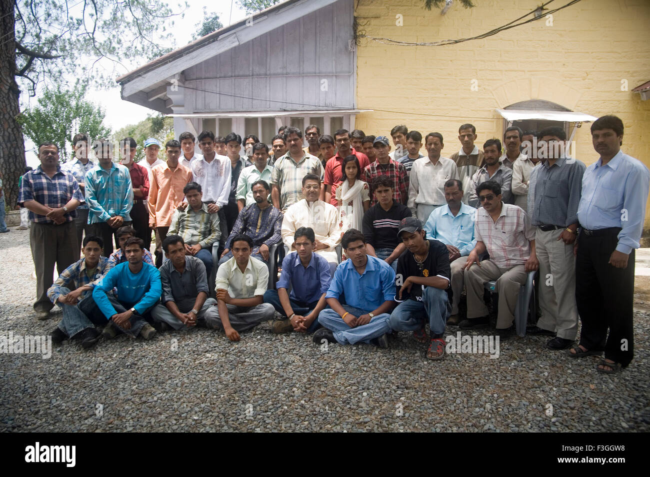Group photo of Nationalist Congress Party leader Suryakant Dhasmana Lancedowne Paudi ; Uttaranchal - Stock Image