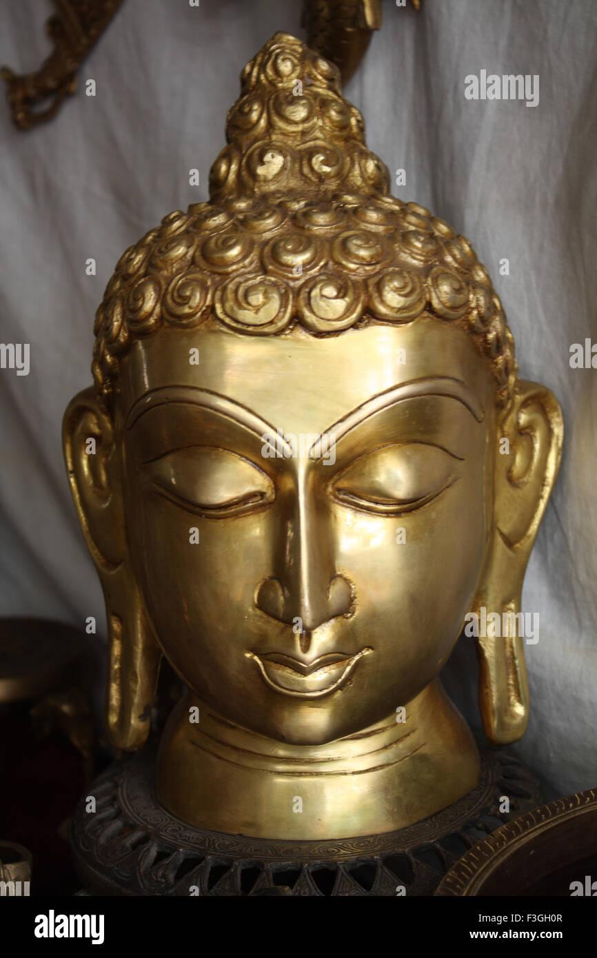 Statue of lord Buddha ; Dilli haat market ; Delhi ; India Stock Photo