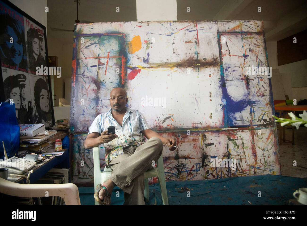 Contemporary South Asian Indian Artist Bose Krishnamachari Painting Stock Photo Alamy
