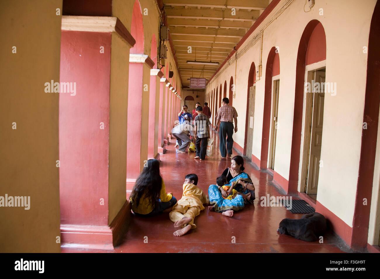 Pilgrims visited in Dakshineshwar Kali Temple Ramakrishna Paramhans was living here as priest ; Calcutta Kolkata - Stock Image