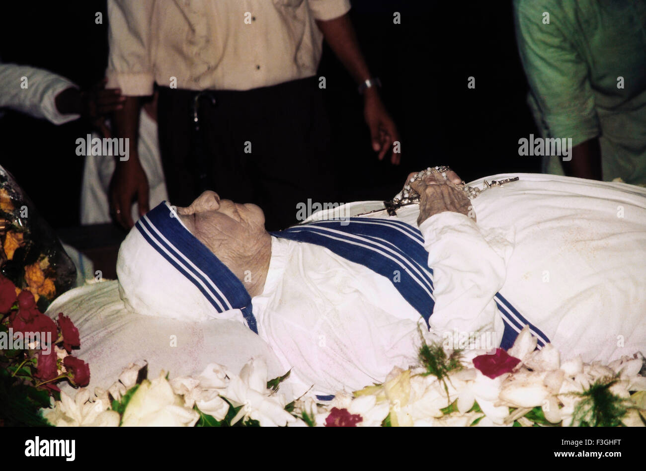 Mother Teresa died at age of 87 on 5th September 1997 - Stock Image