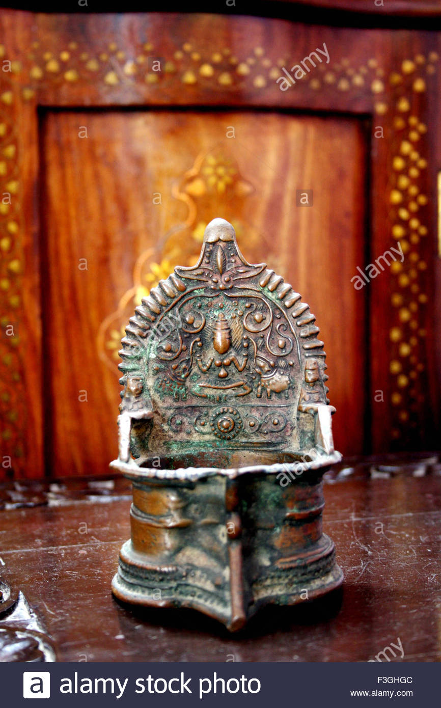 Private collection of antique bronze Pieces ; India - Stock Image