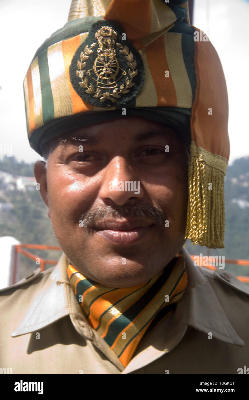 South Asian Indian Indo Tibetan Border Police Force In Military Uniform ;  Mussoorie ; Uttaranchal