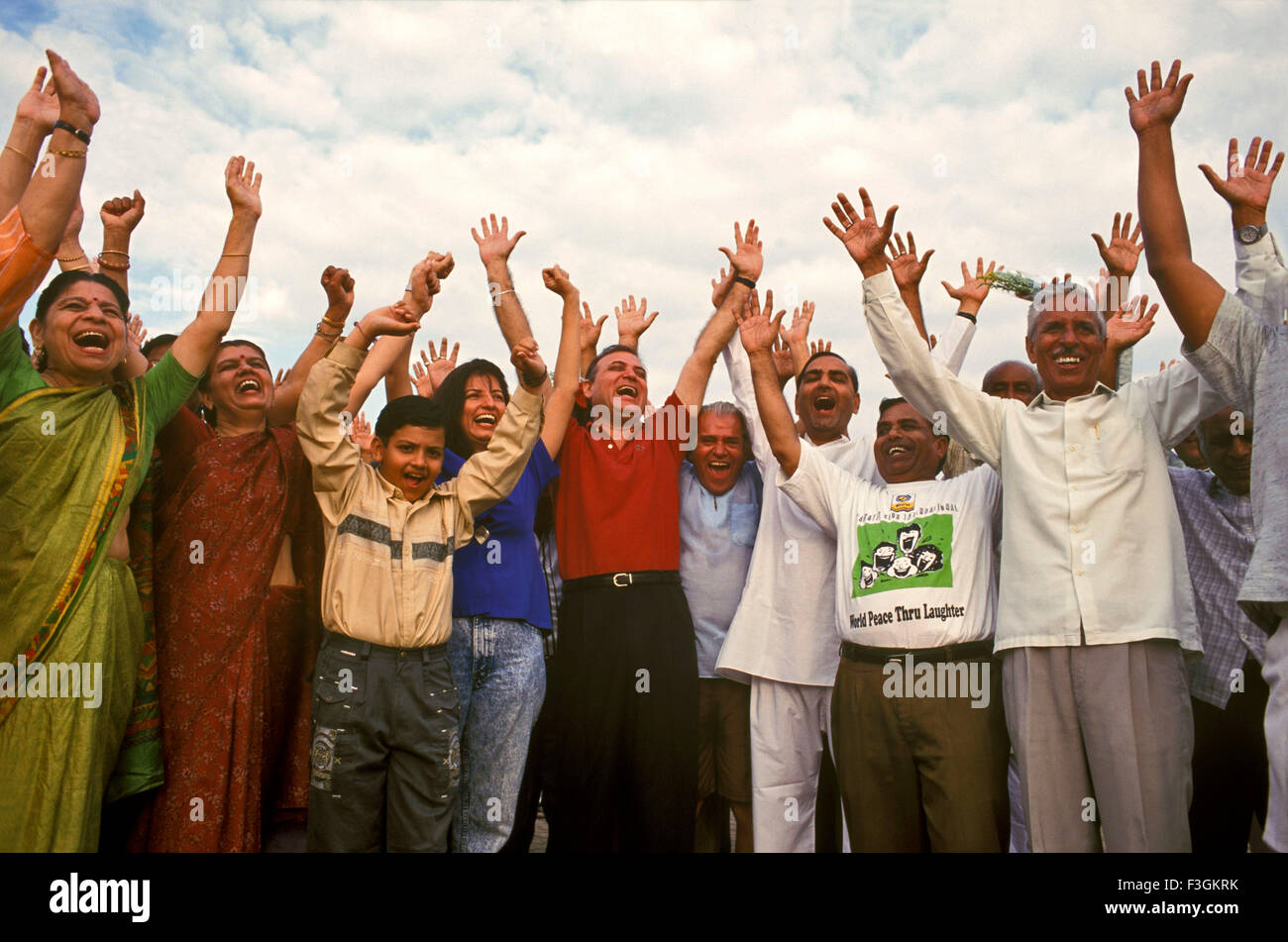 Dr. Madan Kataria ; founder of Laughter Yoga which has over 6000 Laughter Clubs in 60 countries Mumbai India - Stock Image