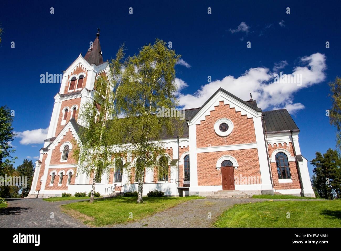 Church near Liminka, Oulu, Finland. - Stock Image