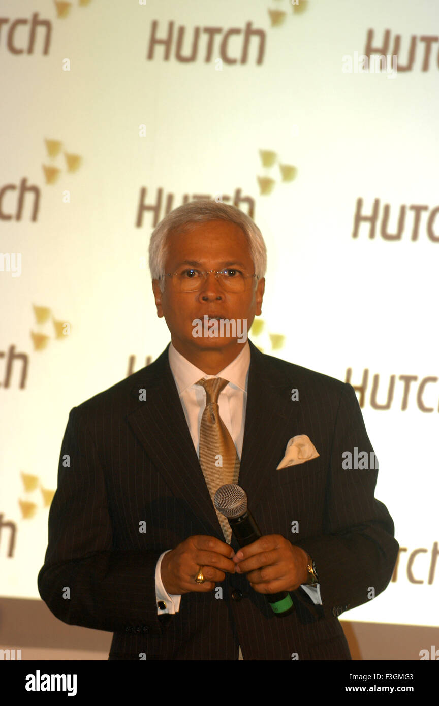 Asim Ghosh Managing Director Hutch NO MR - Stock Image