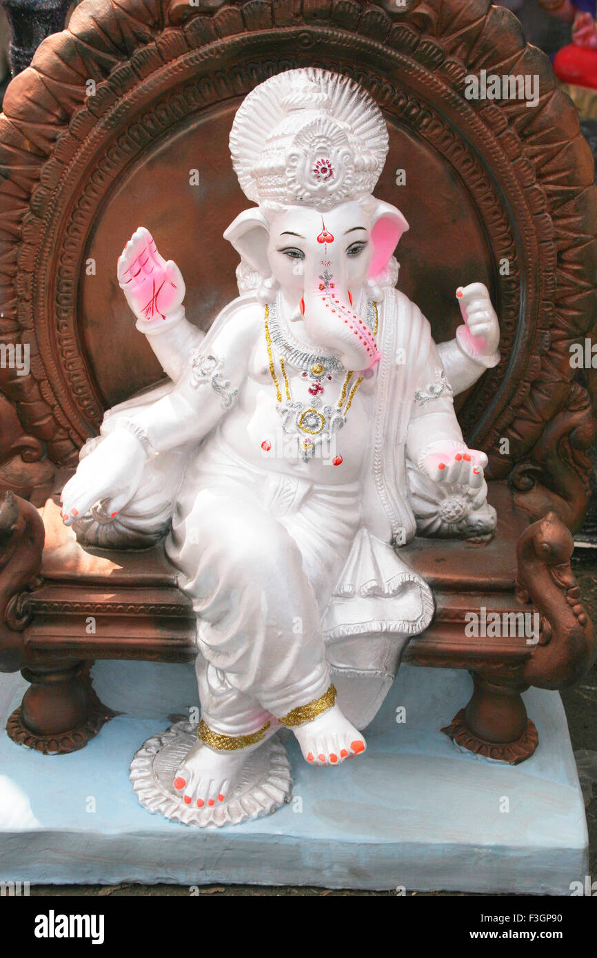 God Ganesh White Background High Resolution Stock Photography And Images Alamy