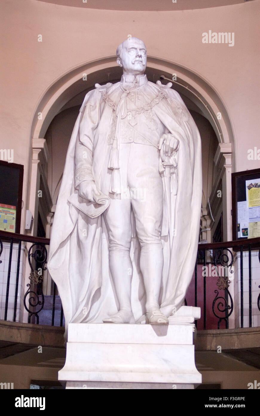 Statue of Baron Sydenham of Combe governor of Bombay ; Bombay Mumbai ; Maharashtra ; India - Stock Image