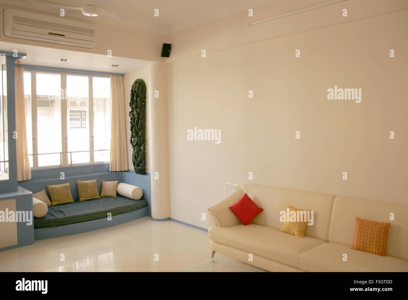 Interior of living room of residential flat ; Bombay Mumbai Stock