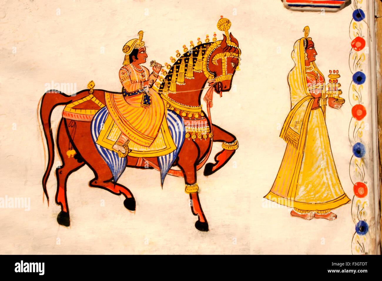 Mural Painting King On Horse High Resolution Stock Photography And Images Alamy