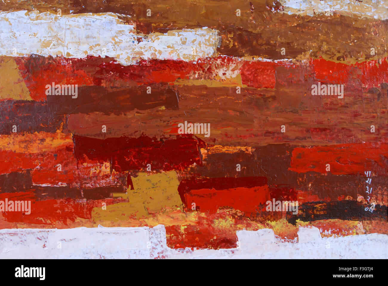 Impression of Jaipur city acrylic colors on handmade paper - Stock Image