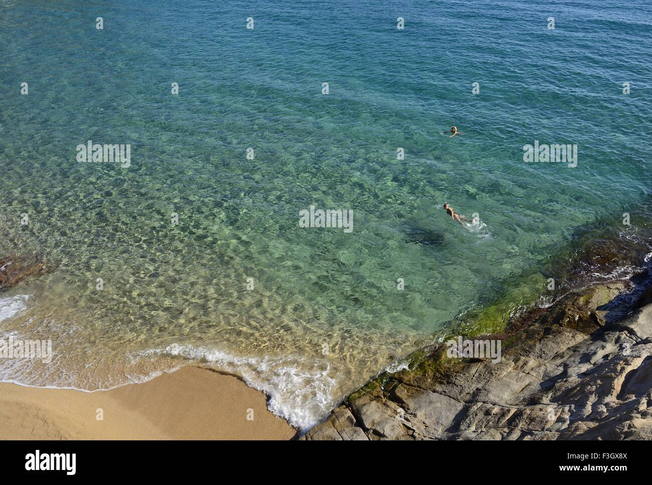 S' Agaro, Costa Brava, Catalunya, Spain The Beach  at Sa Conca - Stock Image