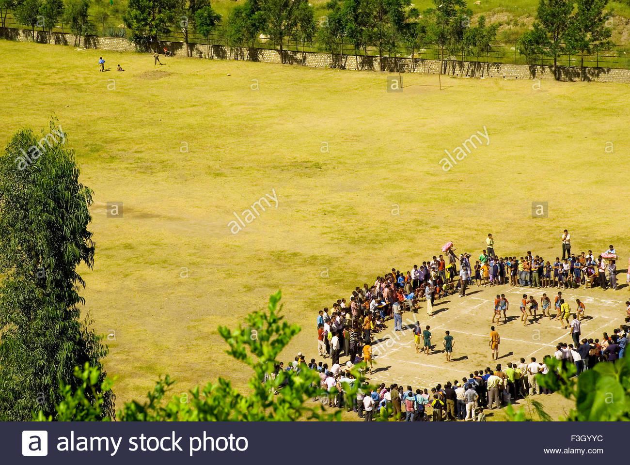 Kabadi school Tournament at Rampur ; Himachal Pradesh ; India - Stock Image