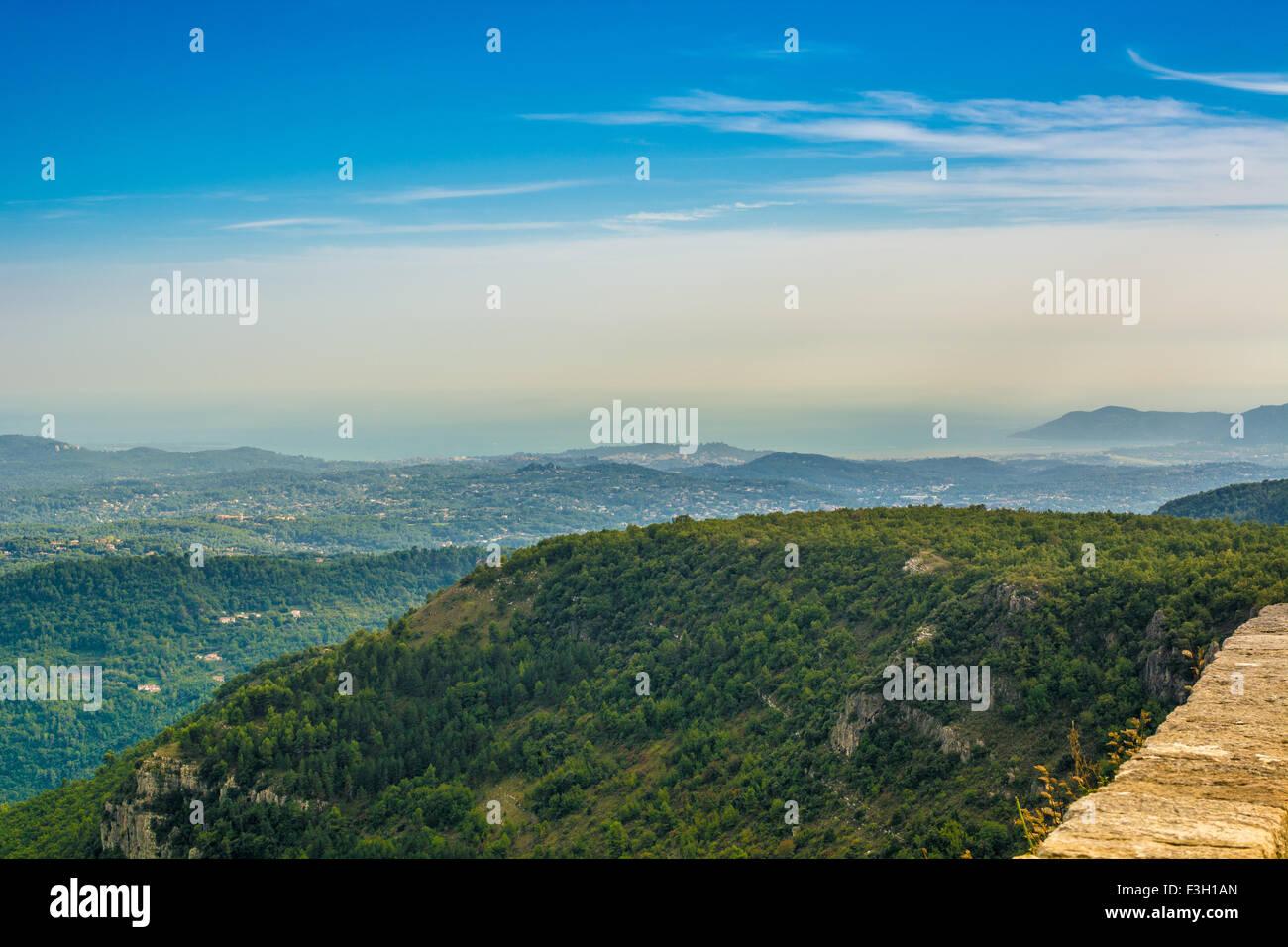 photo of mediterraneen landscape in altitude - Stock Image