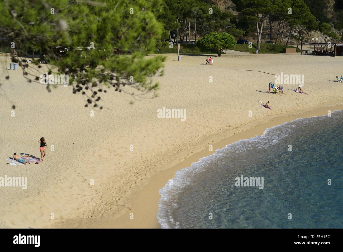 The Beach at Sa Conca, S' Agaro, Costa Brava, Catalunya, Spain - Stock Image