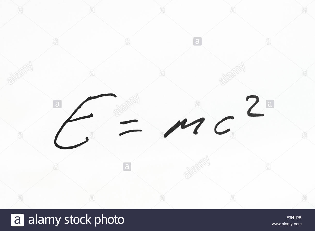 E=mc2 - Albert Einstein's special theory of relativity equation - Stock Image