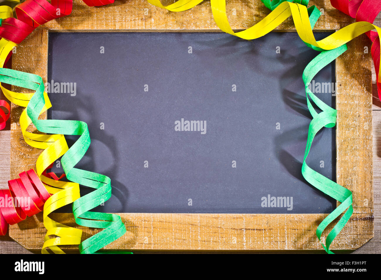 virgin slate with decoration of happy new year theme Stock