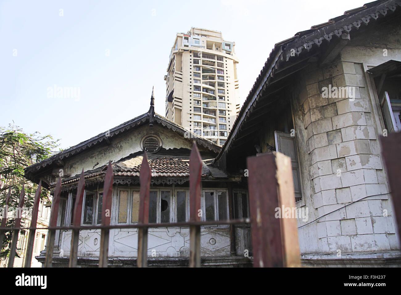 Buildings at J. Shankar Sheth marg ; Grant Road ; Bombay Mumbai ; Maharashtra ; India - Stock Image